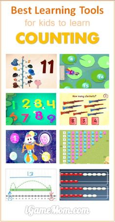 Best counting learning tools for kids on iPad and other tablets, not only teach counting, but also deep understanding of number concepts