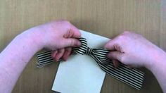 Tying A Bow With Wide Ribbon, via YouTube.