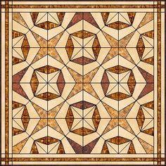 Seeing Stars free quilt paper piecing pattern