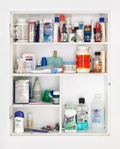 It's worth sorting out your medicine cabinet from time to time, especially if it was last sorted out when man landed on the moon. And if you don't believe that happened: it hasn't been emptied since the Titanic sank.