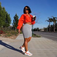Look comfy - Outfit ideas - Biker Shorts Chill Outfits, Lazy Day Outfits, Dope Outfits, Cute Summer Outfits, Swag Outfits, Short Outfits, Baddies Outfits, Concert Outfits, Club Outfits