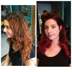 New cut and colour #redhair #rockalily #redhead #shoreditch #hoxton #haircut