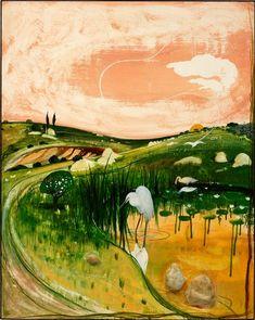 Marulan Bird with Rocks by Brett Whiteley Art Prints, Posters & Custom Framing from Australia's own PictureStore. Art Gallery, Modern Art, Landscape Paintings, Fine Art, Australian Art, Painting, Art, Landscape Art, Australian Painters