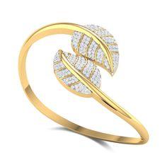 Camilo Leafy Openable Diamond Bangle