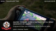 Data de lançamento, preço e primeiros jogos serão anunciados no começo de 2017.  #Nintendo #NX #NintendoSwitch #Switch