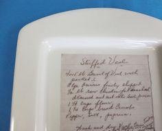 Custom Recipe Platter with Your Handwritten by ArtSmithStudio