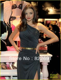 Free shipping Celebrity dress T stage dress Miranda Kerr One shoulder Sash A line Chiffon Pleat Floor Length Chiffon Custome-in Celebrity-Inspired Dresses from Apparel & Accessories on Aliexpress.com