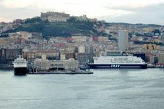 Ferry boats in Naples, Italy