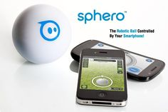 Smartphone Controlled Ball - Sphero  -   Sphero gadget is nothing you've seen before. This cute robotic ball is controlled with the help of your tablet or smartphone. You can make it tilt, swing, roll just with a few simple actions. Sphero takes gaming to a new level - it delivers an amazing mixed-reality experience with both multi-player and single games. Sphero producers promise to improve the ball even more - they say it will continue to surprise and challenge you.