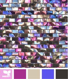 Mosaic Color by Design Seeds Design Seeds, Colour Pallette, Colour Schemes, Colour Combinations, World Of Color, Color Of Life, Winter Typ, Color Balance, Crazy Colour