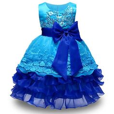 Summer flower ball gowns kid dress party for 3-8 years girls clothes