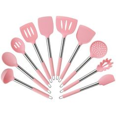 Shop for Pink Cooking Utensils in Kitchen Tools & Gadgets. Buy products such as Kitchen Cooking Silicone Spatula Heat Resistant Turner Scraper Baking Utensils Pink at Walmart and save. Cooking Utensils, Kitchen Utensils, Kitchen Tools, Kitchen Gadgets, Pink Kitchen Appliances, Kitchen Cupboard, Kitchen Things, Cooking Tools, Pink Kitchen Decor