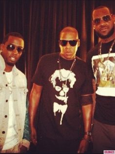 """Sean """"Diddy"""" Combs, Jay-Z, Lebron James in NYC"""