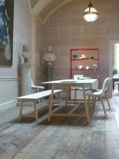 dining room hay with bench - Google Search
