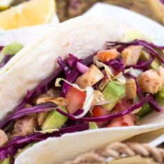 A California classic, these tacos rely on quality fish—and a boost from a dry rub—to set them apart. Buy the best seafood you can find, and serve the extra pico de gallo with chips. Cabbage Recipes, Fish Recipes, Meat Recipes, Seafood Recipes, Mexican Food Recipes, Cooking Recipes, Healthy Recipes, Ethnic Recipes