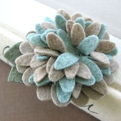 SALE Zinnia in Knit Sweater with soft blue and by PrettyinPosies, $8.00