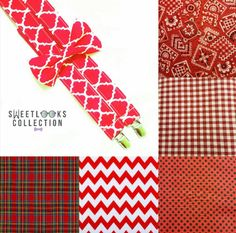 Red Wedding Theme Suspenders and Bow Tie  Check out this item in my Etsy shop https://www.etsy.com/listing/496403060/red-suspenders-quatrefoil-pattern-red