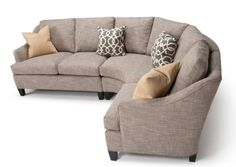 Clean lines, gently curving arms plus flat seams and taper legs are featured in the updated Prescott collection. Comfortable depth and curved sectional corner make this a popular choice. See in-store for sizes and fabric options.