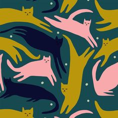 Flying cats pattern