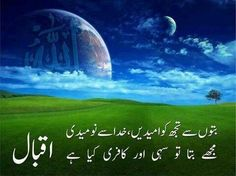 quotes by iqbal in urdu - Google Search