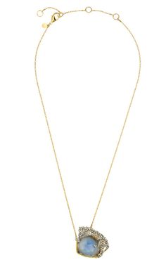 Siyabona Gold Cerulean Panther Pendant Necklace by Alexis Bittar - Moda Operandi