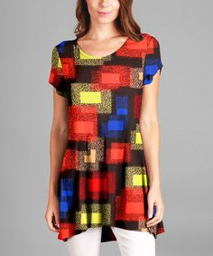 Another great find on #zulily! Red & Blue Abstract Tunic - Plus #zulilyfinds