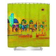 Boardwalk Plaza Shower Curtain by Marnie Patchett