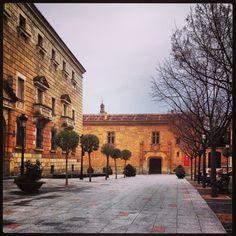 Plaza del conde y fachada palacio montarco