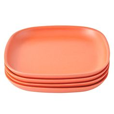 Shop Set of 4 Gusto Side Plates (Orange).  Made from bamboo, the stackable Gusto side plates are the perfect mealtime companions.  Not only are they available in a variety of colors, but they're also free of BPA, PVC, and Phthalates.