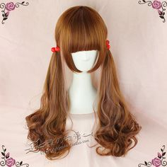 kyouko wig | Exclusive paragraph Lolita cos daily natural brown / vanilla color streaked hair 70cm