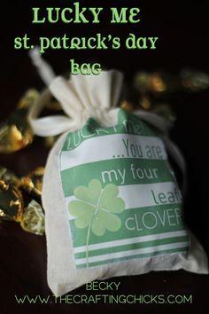 Lucky Me Bag #stpatricsday #luck #bug #irish