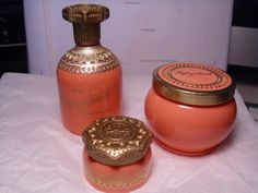 "Avon Unforgettable Cologne Bottle | Vintage set of Avon ""Unforgettable"" Perfume Bottles"