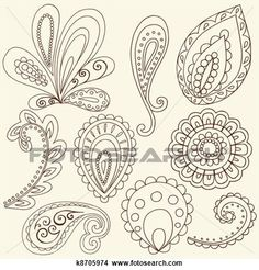 Henna Doodle Paisley Design Elements royalty-free henna doodle paisley design elements stock vector art & more images of abstract Paisley Doodle, Henna Doodle, Paisley Art, Paisley Design, Henna Art, Henna Mehndi, Paisley Drawing, Mehendi, Paisley Wallpaper