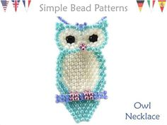 Jewelry Making – Beading Pattern – Beaded Owl Necklace Tutorial – Brick Stitch – Fall Autumn – Simple Bead Patterns – Owl Necklace – 2019 - Weaving ideas Seed Bead Patterns, Owl Patterns, Beaded Bracelet Patterns, Peyote Patterns, Weaving Patterns, Knitting Patterns, Color Patterns, Mosaic Patterns, Crochet Patterns