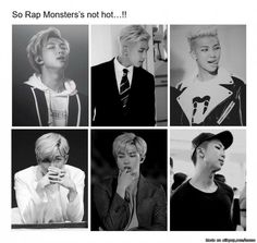 So many people are like Rap Monster/ Namjoon is ugly and I'm here like where I do not see anything ugly except your face