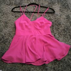 Express flowy/ open back top Never worn still has tags on! Pinkish/purple Express Tops Tank Tops