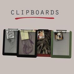 Leo Sims - Clipboards for The Sims 4