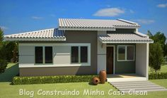 27 Simple and modern house fronts Bungalow House Design, House Front Design, Roof Design, Modern House Plans, Small House Plans, Custom Home Plans, Facade House, Simple House, House Painting