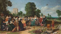 Dirck Hals - De buitenpartij - Google Art Project - Category:1620s fashion - Wikimedia Commons