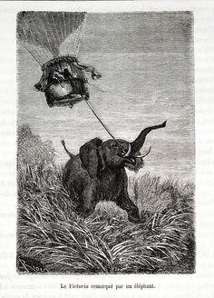 Title: Cinq semaines en ballon; voyage de découvertes en Afrique, par trois anglais (Five weeks in a balloon; or, Journeys and Discoveries in Africa, by three Englishmen)  Author: Jules Verne  Imprint:Paris, 1867