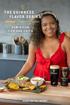 This summer, bring the Caribbean to any occasion by pairing Guinness with this Dominican Fish & Chips recipe. This iconic beach and coastal town dish was made for the beach or the backyard, and goes nicely with the rich and creamy flavor of Guinness Draught. Perfect for a day out in the sun, add this delicious combo to any summer gatherings you have planned! Dominican Food, Dominican Recipes, Guinness Recipes, Lab, Guinness Draught, Hot Soup, Fish And Chips, Candy Apples, Yummy Eats