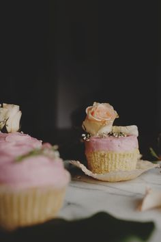 Vanilla Cupcakes with Rose Pink Pomegranate Buttercream Moist Vanilla Cupcakes, Buttercream Cupcakes, Fun Cupcakes, Cupcake Cupcake, Decorated Cupcakes, Individual Cakes, Cake Photography, Cupcake Recipes, Let Them Eat Cake