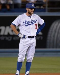c7da7da9e Los Angeles Dodgers  Chris Taylor connects for a double in the fifth  inning