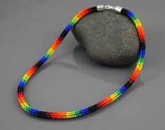 Ndebele Beadwork Necklace Brilliant by SilverspotMetalworks
