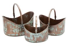 Patina Baskets, Asst. of 3 on OneKingsLane.com