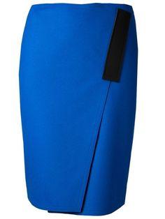 Cedric Charlier Asymmetric Slit Skirt - The Webster - Farfetch.com