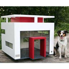 Modern dog house.