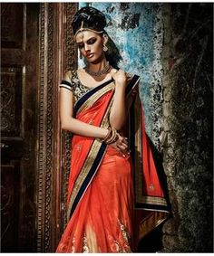 Georgette Lehenga Saree with Blouse | I found an amazing deal at fashionandyou.com and I bet you'll love it too. Check it out!