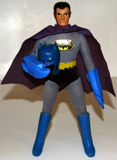 Batman (World's Greatest Super-Heroes!) action figure (with removable cowl) by Mego