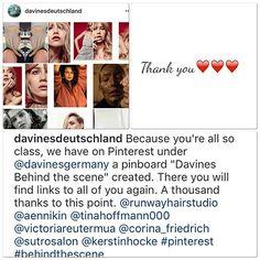 A simple #ThankYou is not enough for your generous #Support @davinesdeutschland 😍👊🏻👍🏻😘 #DavinesFamily #RunwayOnPinterest #DavinesGermany #DavinesLove #SharingTheDavinesLoveAroundTheWorld❤️